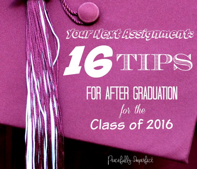 Graduation tips 2016