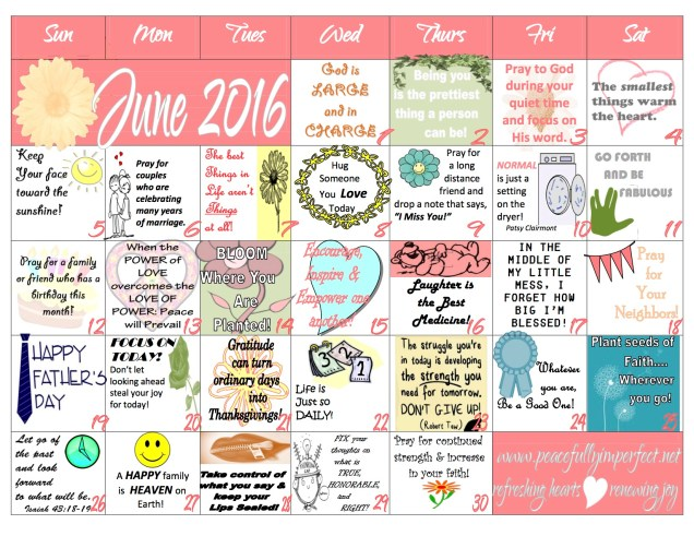 June 2016 peacefullyimperfect