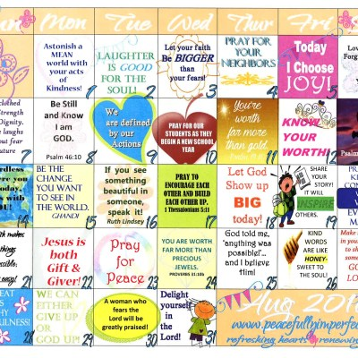 Your complimentary August 2016 Calendar is here!