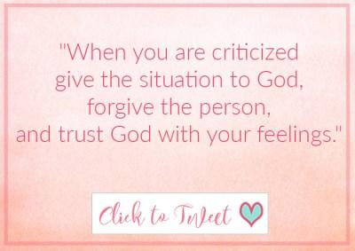 Combating Criticism