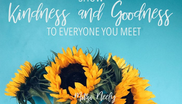 Show Kindness and Goodness to Everyone You Meet