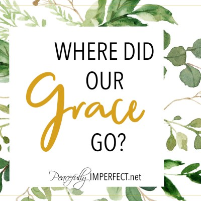 Where Did Our Grace Go?