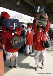 Porters in Haridwar Train Station
