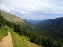 Looking back on Arapahoe Pass Trail