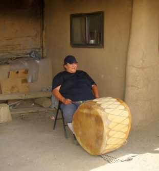Pueblo Drummer and Singer