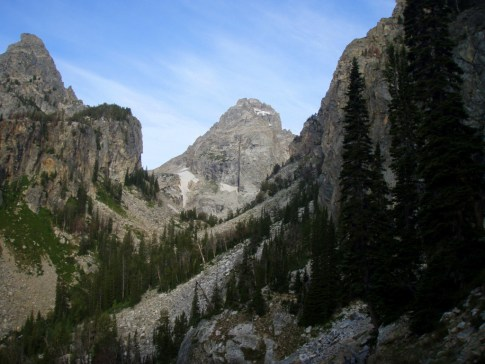 Middle Teton with Black Dike Basaltic Intrusion