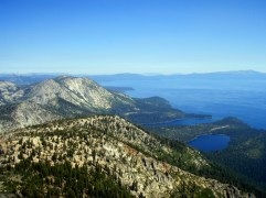 On Mt. Tallac Trail w/views of Lake Tahoe, Emerald Bay and Cascade Lake