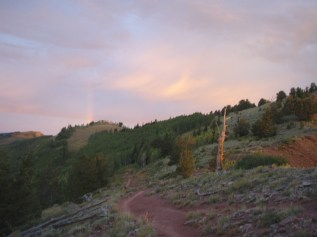 Barely Visible Rainbow on Red Lover's Ridge