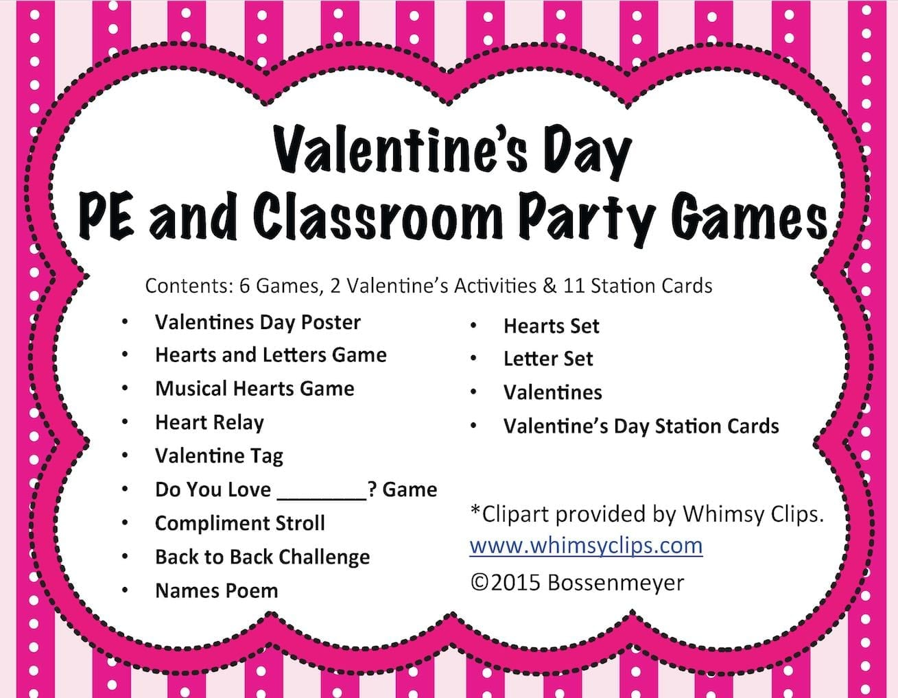 Valentine S Day Pe And Classroom Party Games