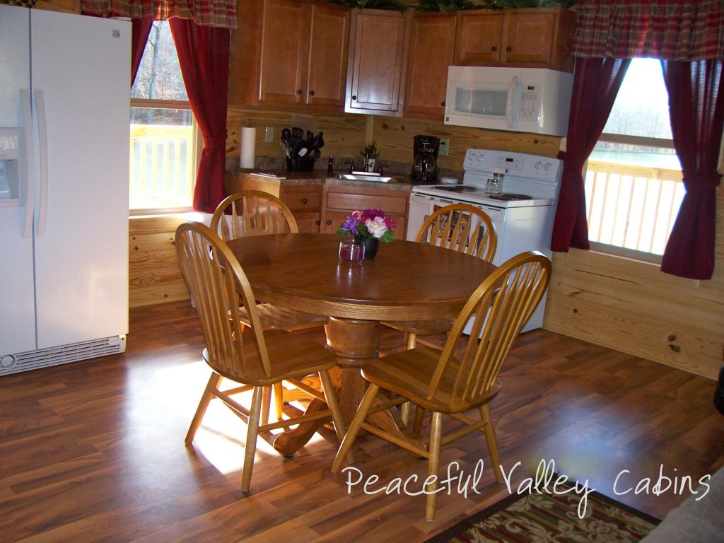 kitchen island with oven 42 cabinets the (one-bedroom cabin) – peaceful valley lake and ...