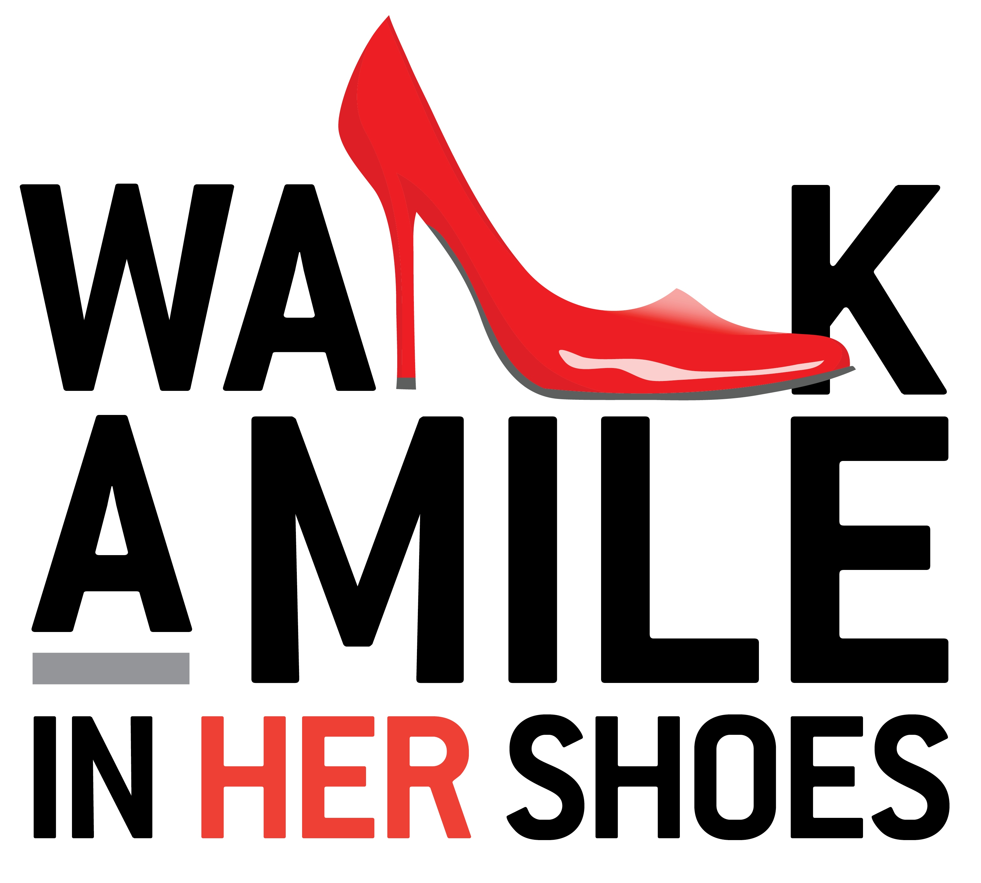 walk a mile in her shoes logo