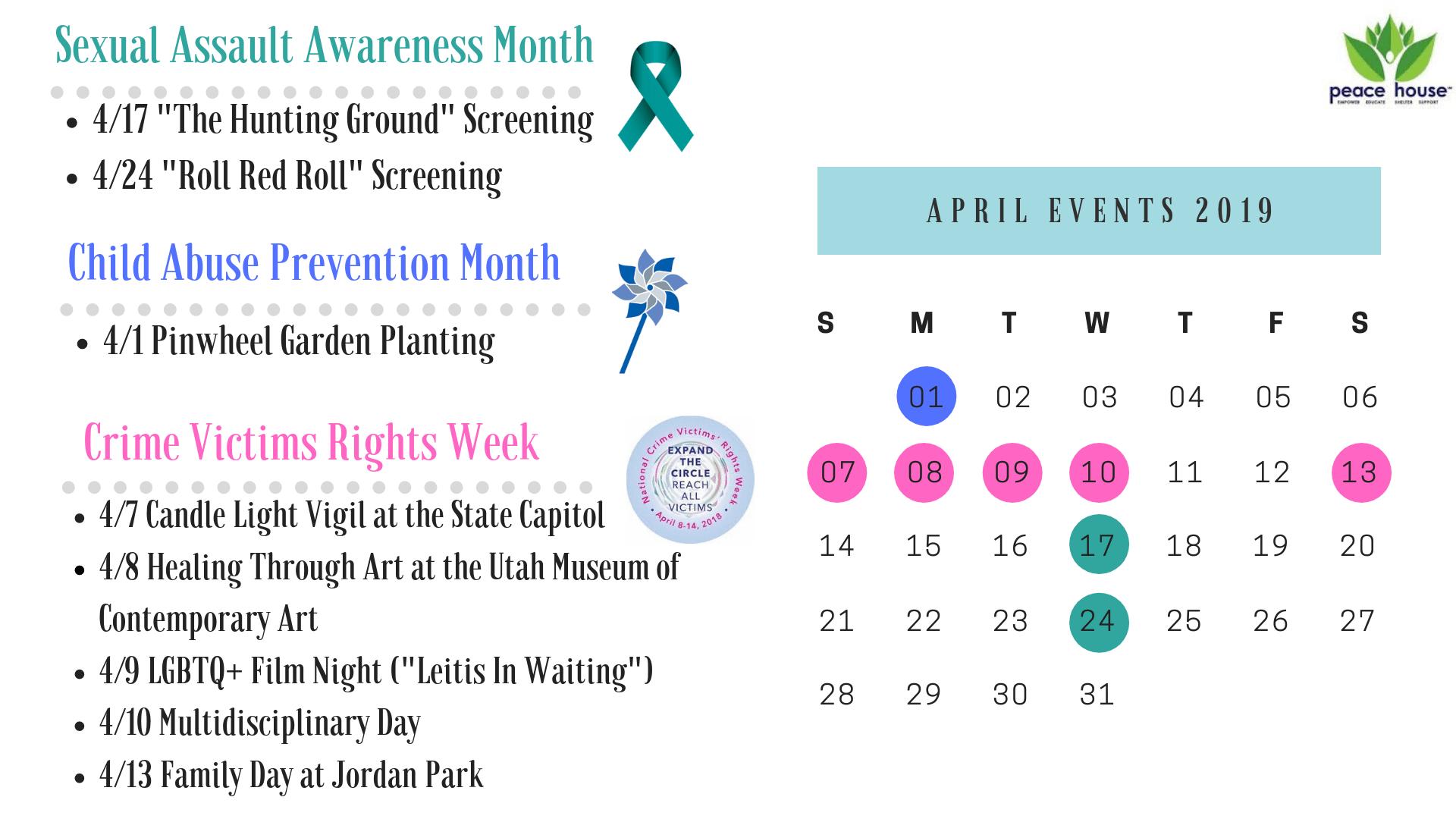 April Awareness Calendar