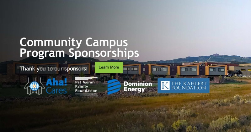 community campus with donor logos