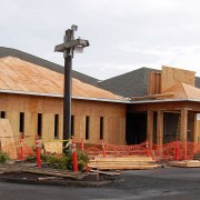 Peace Lutheran Church during remodel