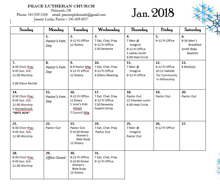 Calendar 01-18
