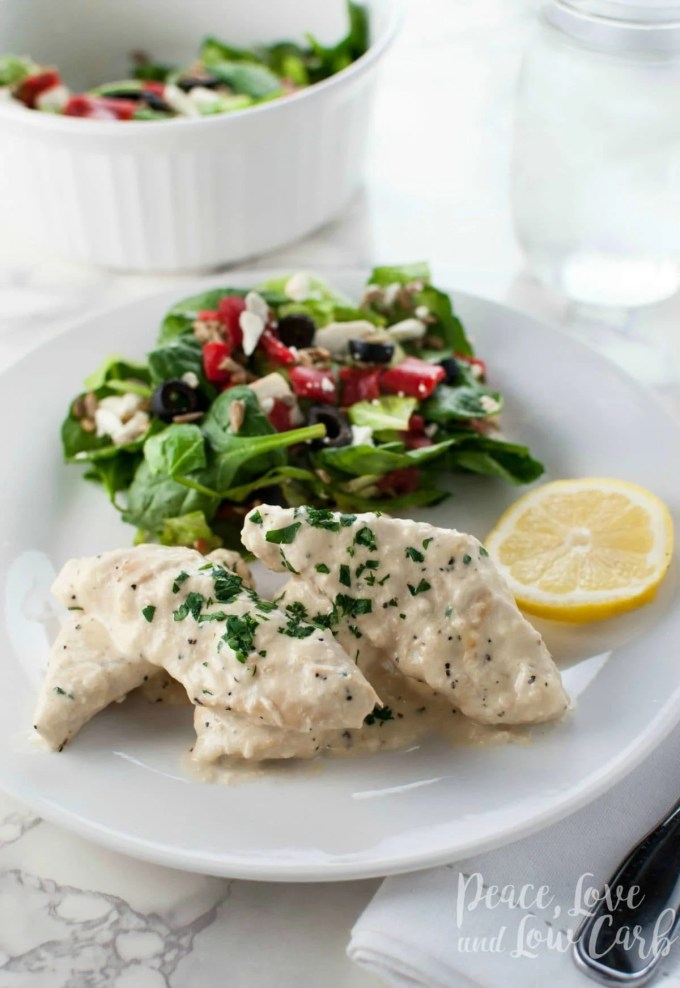 Lemon Sherry Chicken - Low Carb, Keto, Gluten Free | Peace Love and Low Carb