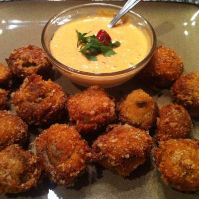 Low Carb Deep Fried Mushrooms