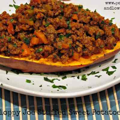 Low Carb Sloppy Joe Stuffed Sweet Potatoes