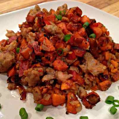 Chicken Sausage, Sweet Potato Hash – Low Carb, Paleo, Whole30