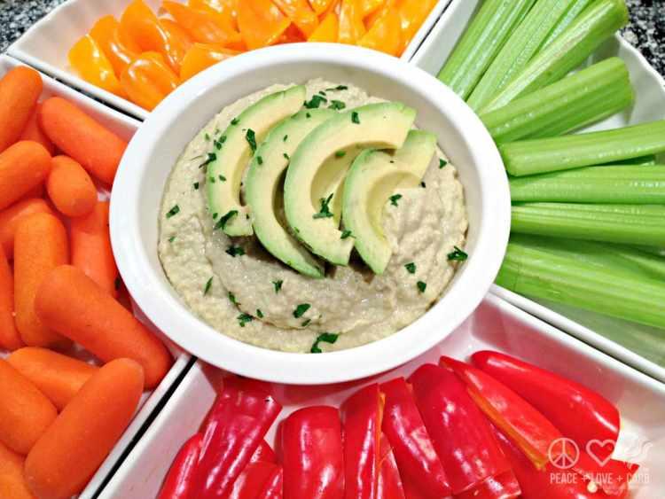 Avocado Hummus - Low Carb, Keto, Paleo | Peace Love and Low Carb