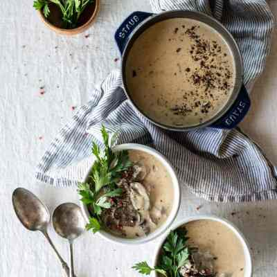 Keto Beef Stroganoff Soup | Peace Love and Low Carb