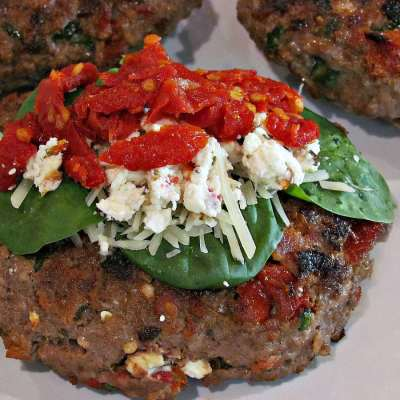 Spinach Feta Bacon Burgers   Peace Love and Low Carb