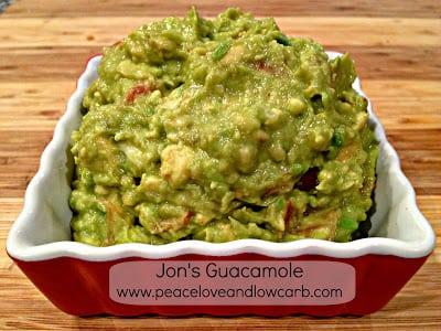 Jon's Guacamole – Low carb, Gluten Free, Paleo