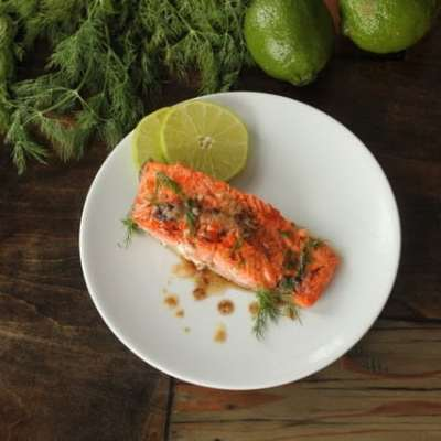 Brown Butter Salmon Recipe & Cancer and the Ketogenic Diet – A Guest Post by Maria Emmerich