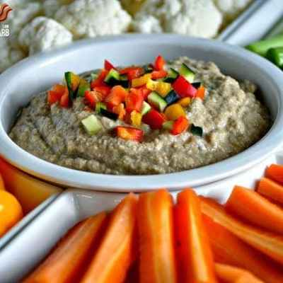 Balsamic Hummus - Low Carb, Paleo