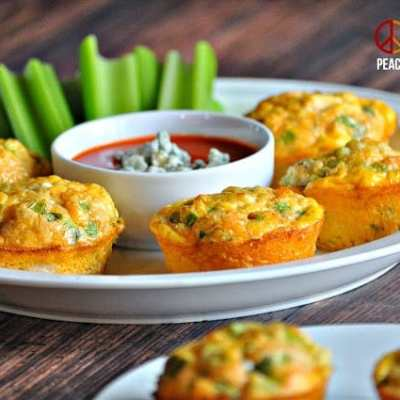 Buffalo Chicken Egg Muffins – Low Carb, Gluten Free