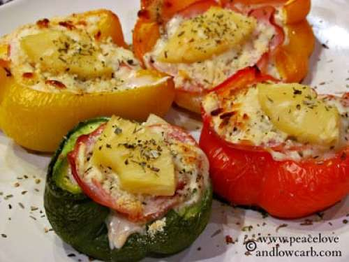 Hawaiian Pizza Stuffed Peppers