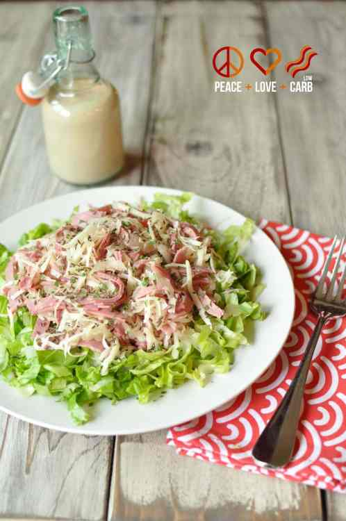 Reuben Chopped Salad with Russian Dressing - Low Carb, Gluten Free