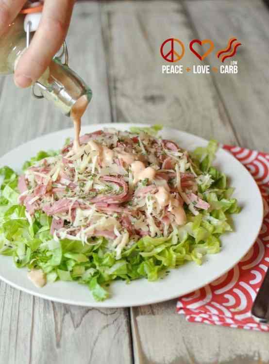 reuben chopped salad with russian dressing low carb gluten free. Black Bedroom Furniture Sets. Home Design Ideas