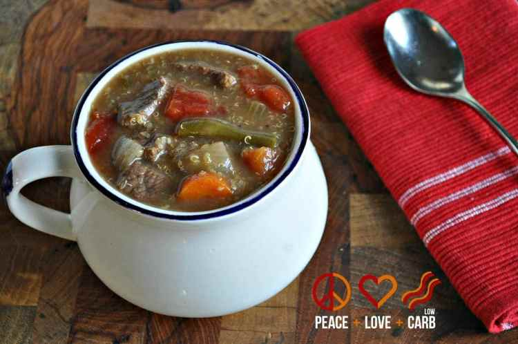 Vegetable Beef Quinoa - Low Carb, Gluten Free | Peace Love and Low Carb