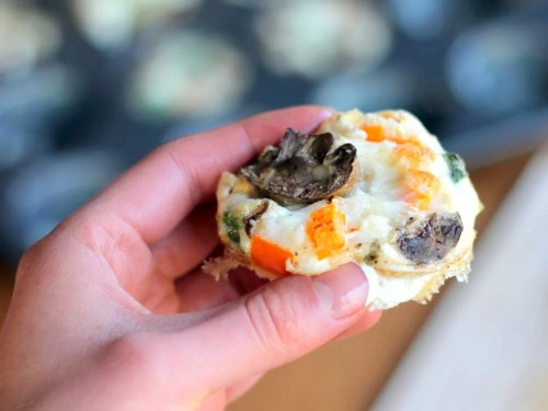 Cheesy Egg White Veggie Breakfast Muffins  - Grab and Go Egg Muffin Breakfast Round Up | Peace Love and Low Carb