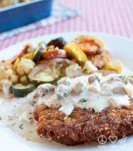 Chicken Fried Steak with Creamy Sausage Gravy - Low Carb, Gluten Free