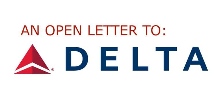 An Open Letter to Delta Airlines
