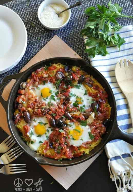 Italian Spaghetti Squash Breakfast Casserole - Low Carb, Gluten Free, Paleo | Peace Love and Low Carb