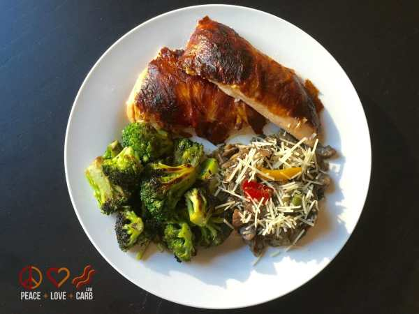 Day 2 - Dinner - My 100 pound journey   Peace Love and Low Carb
