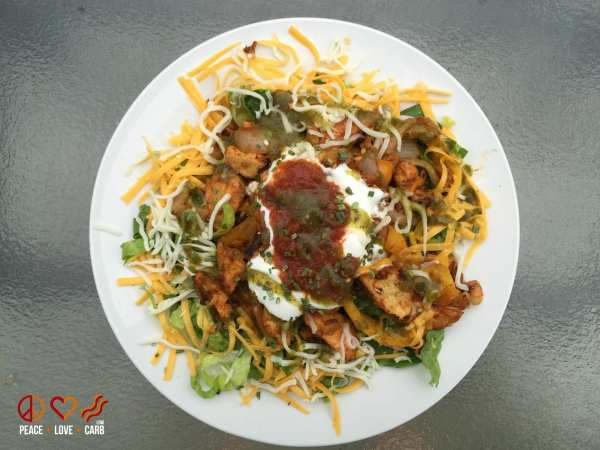 Chicken Fajita Salad - Low Carb Gluten Free   Peace Love and Low Carb
