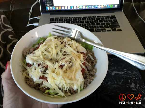 Day 28 Lunch - My 100 Pound Journey | Peace Love and Low Carb