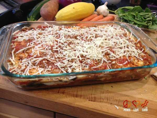 Eggplant Lasagna - Low Carb and Gluten Free - Peace Love and Low Carb
