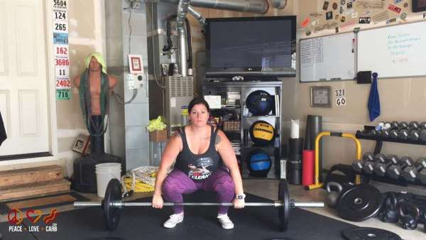 Workout Day 26 - Power Cleans - My 100 Pound Journey | Peace Love and Low Carb