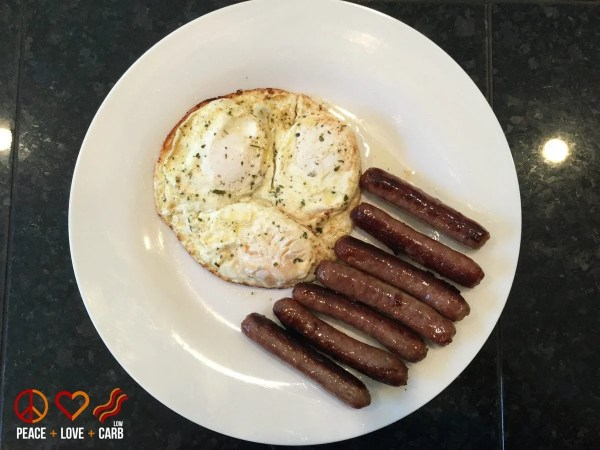 Sausage and Eggs | Peace Love and Low Carb