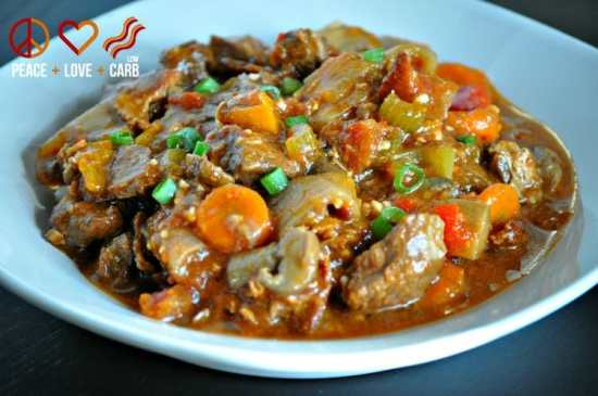 Hearty Slow Cooker Beef Stew   Peace Love and Low Carb