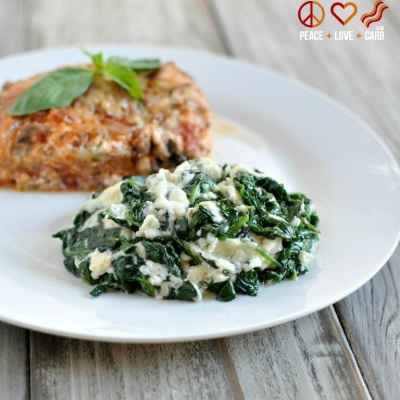 Low Carb Cheesy Garlic Creamed Spinach