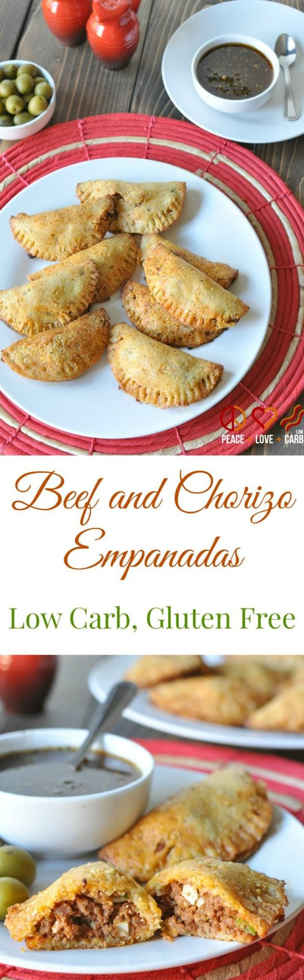 Beef and Chorizo Empanadas - Low Carb, Gluten Free Peace Love and Low Carb