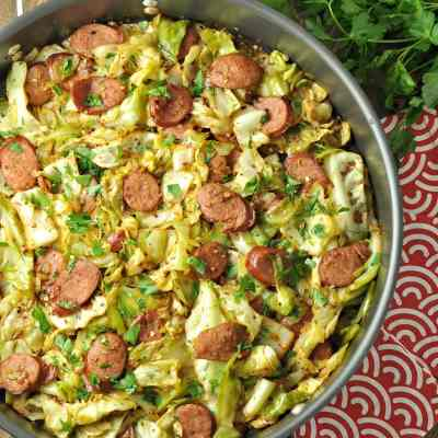 Fried Cabbage with Kielbasa – Low Carb, Paleo, Gluten Free
