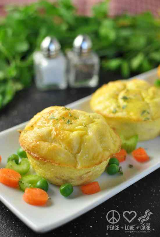 Chicken Pot Pie Egg Muffuns - Peace Love and Low Carb | Peace Love and Low Carb