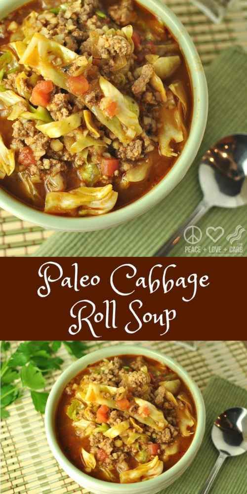 Paleo Cabbage Roll Soup - Low Carb, Gluten Free | Peace Love and Low Carb